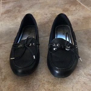 Black Sperry Flats